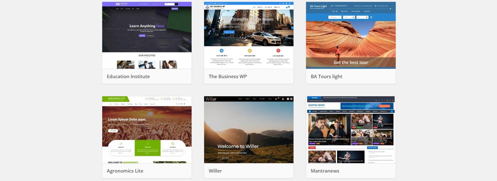 Wordpress themas vinden