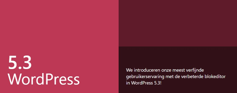 Wordpress5.3 update